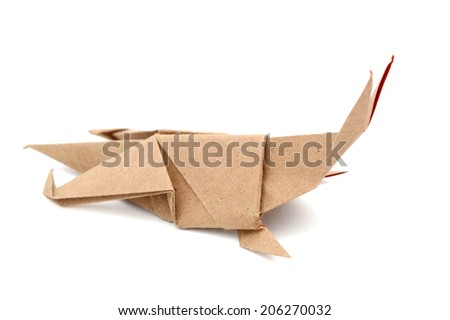 Origami Grasshopper Stock Photo Royalty Free 206270032