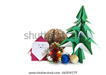 Origami Japanese Paper Christmas Tree White Stock Photo 66004561  - Japanese Christmas Tree