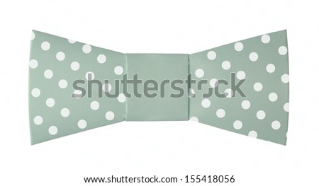 Origami paper men hipster bow polka dots