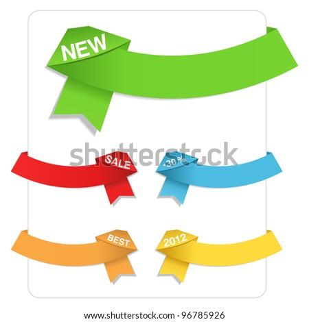 Origami Ribbons - stock photo