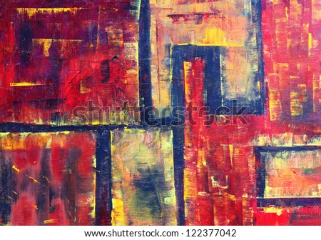 original abstract painting , oil on canvas