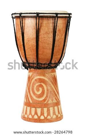 Original african djembe drum - stock photo