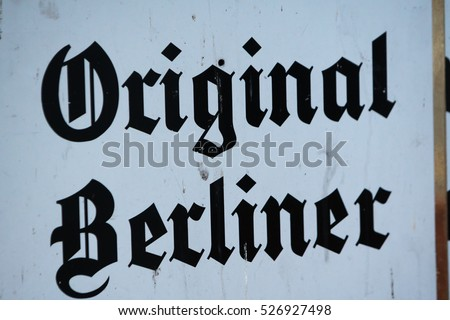 Original Berliner Written Text In Fraktur That Is A Calligraphic Hand Of The Latin Alphabet