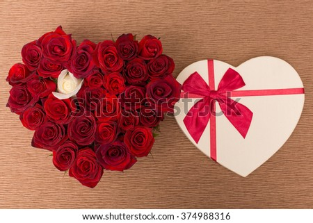 Original bouquet of flowers. A lot of beautiful flowers in box. Design. Decoration for holidays.