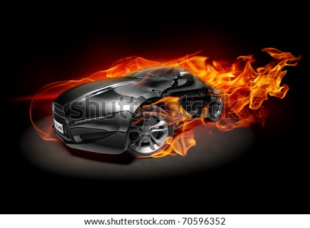 Original car design. Logo on the car is fictitious. - stock photo