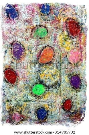 Original Colorful Abstract Grunge Background Painting - stock photo