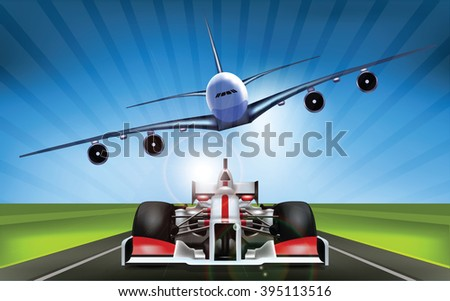 Original Concept Racing Cars and Airplane