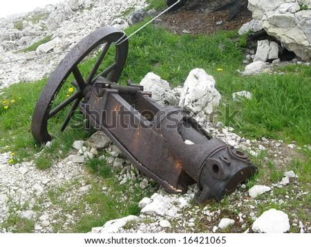 Original first world war cannon - stock photo