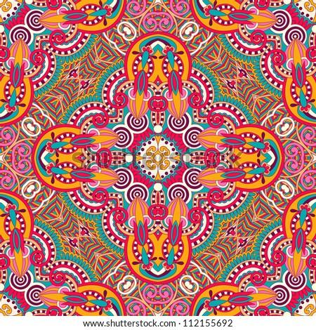 original retro paisley seamless pattern. Raster version - stock photo
