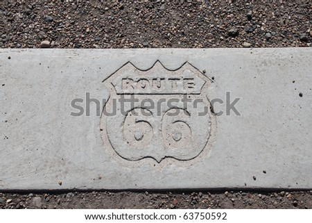 original sign on route sixty six - stock photo