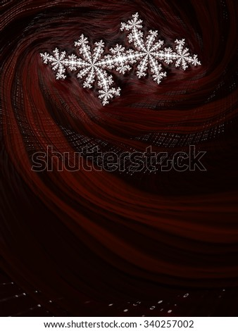 Original white snowflake on burgundy or marsala dark wine red textured abstract fractal design background - Fall winter 2015 2016 fashion color trends collection - stock photo