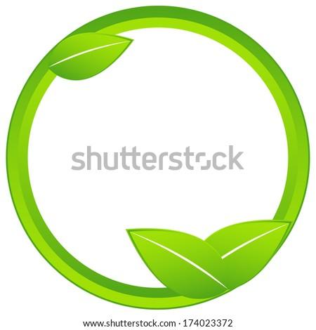 Originally created ecology business icon on a white background - stock photo