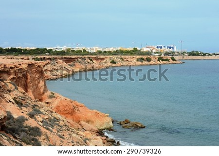 ORIHUELA COSTA, SPAIN - OCTOBER 11, 2014: Orihuela Costa is recognized as the most ecological clean region of Europe, famous for its clean beaches and is the most southern point of the Costa Blanca.