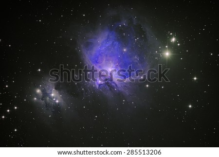 Orion Nebula (M42) Colored by imagination - stock photo