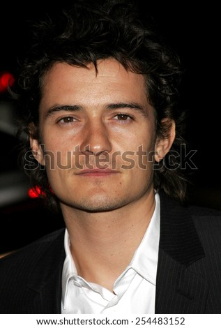 Orlando Bloom attends the Global Green USA Pre-Oscar Celebration to Benefit Global Warming held at the The Avalon in Hollywood, California on February 21, 2007.  - stock photo