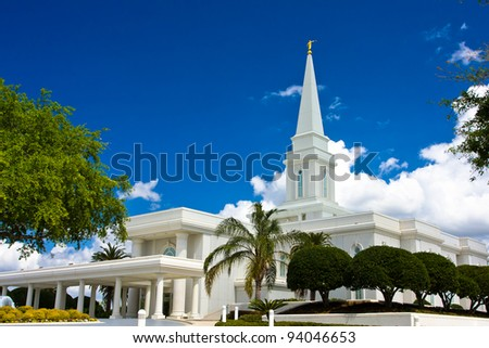 Orlando Florida Temple - stock photo