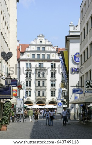 Orlando Haus orlandohaus platzl historic centre munich stock photo