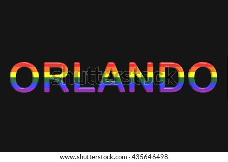 Orlando mass shooting concept, 3D rendering