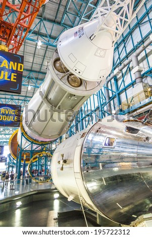 ORLANDO, USA - JULY 25:  Rockets at Kennedy Space Center featuring authentic rockets from past space explorations on July 25, 2010 in Orlando, USA. - stock photo