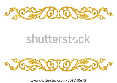Ornament Elements Frame Vintage Gold Floral Designs