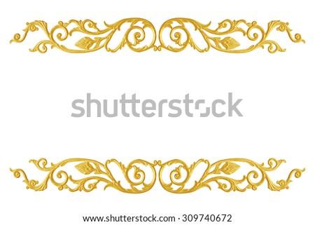 Ornament Elements Frame Vintage Gold Floral Designs
