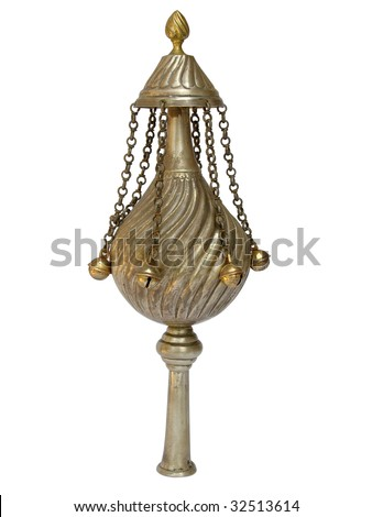Ornament for a Torah Scroll - stock photo