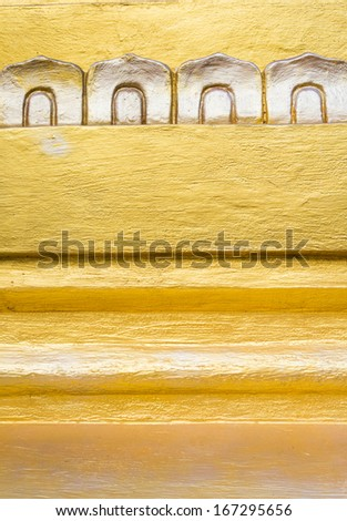 Ornament on a typical stupa in Myanmar, Burma, Southeast Asia - stock photo
