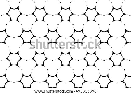 Ornament with elements of black and white colors. N