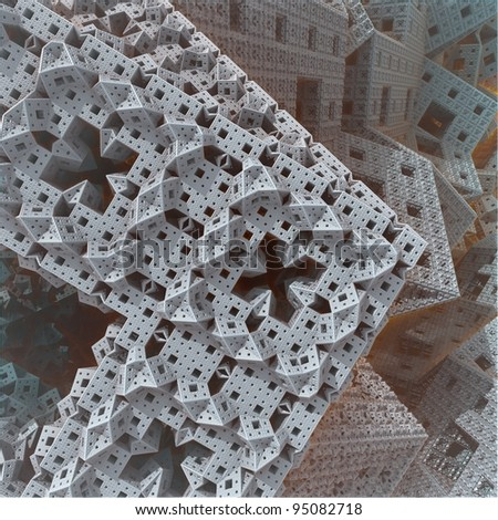 ornamental abstract background (3D) - stock photo