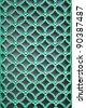 ornamental green door lattice background and texture - stock photo