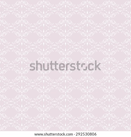 Ornamental seamless pattern. Retro curly wallpaper. Abstract background. - stock photo