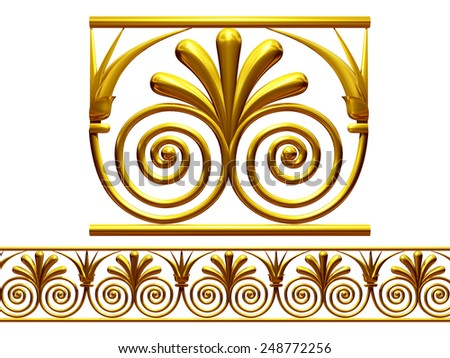 ornamental Segment for a frieze, border or frame. This complements my ninety degree angle item for a circle or corner: Ornament 59. See Set -decorative ornaments- in my portfolio  - stock photo