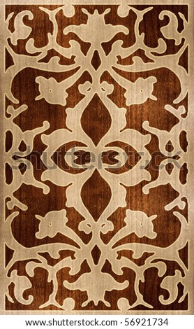 Ornamental wood texture - stock photo