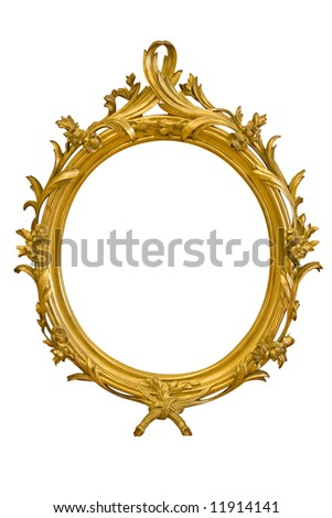 Ornamented Oval Picture Frame - stock photo