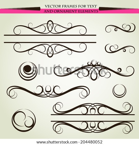 ornaments,  decorative elements - stock photo