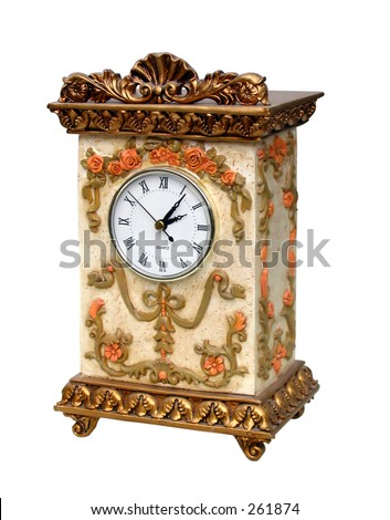 Ornate Clock. This photo has an extremely precise clipping path embedded