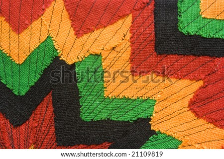 Ornate fabric with versatile image as background - stock photo