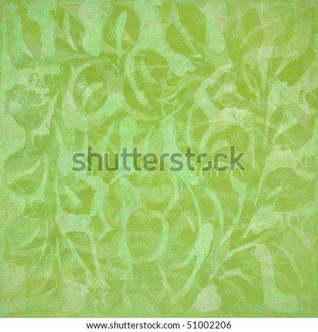 ornate floral abstract textured background in olive - stock photo