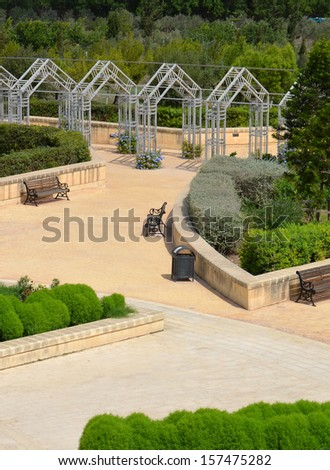 Ornate Gardens - stock photo