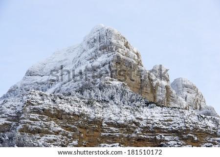Oroel Peak in the Pyrenees, Jaca, Huesca, Aragon, Spain - stock photo