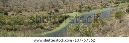 Orpen Dam Lookout Point at Kruger National Park, South Africa - stock photo