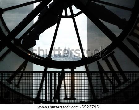 Orsay Museum clock - stock photo