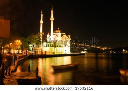 Ortakoy Mosque in Istanbul, Turkey - stock photo