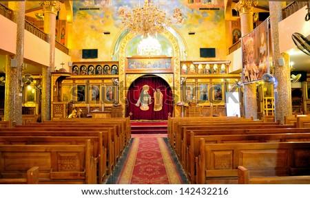 Orthodox Christian church in El Quseir, Egypt - stock photo