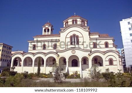 Orthodox church, Durresi, Albania - stock photo