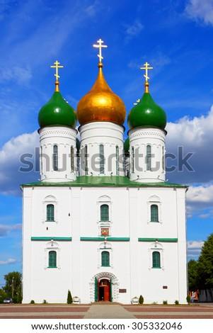 Orthodox Church.Kolomna.The Moscow region.Russia.The Kolomna Kremlin. - stock photo
