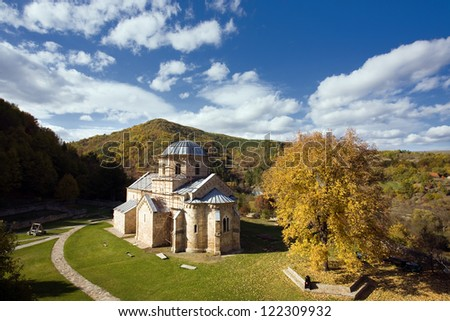 Orthodox Gradac Monastery - stock photo