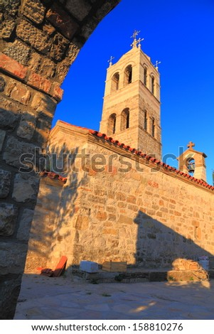 Orthodox monastery from the Mediterranean region  - stock photo