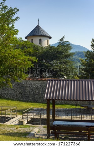 Orthodox monastery. Montenegro - stock photo