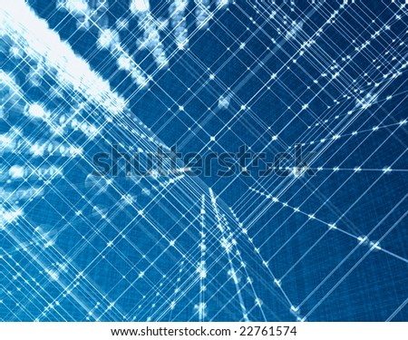 Orthogonal light fibre 3d orthogonal mesh background